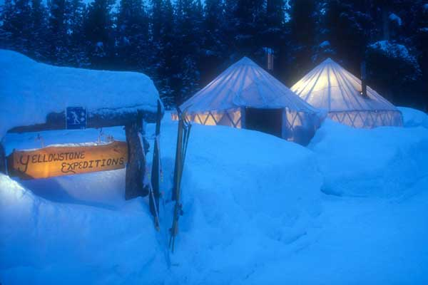 Yellowstone Expeditions yurts