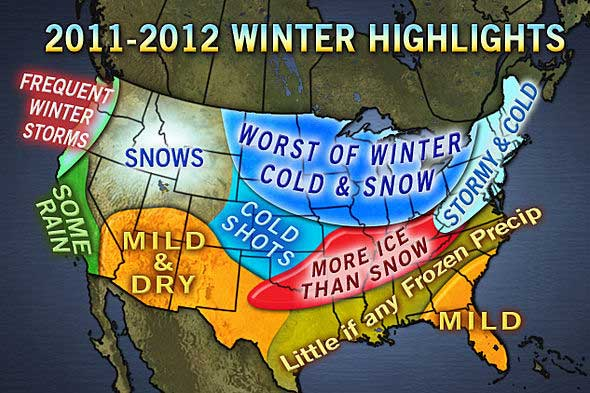 AccuWeather forecast for 2011-2012 winter