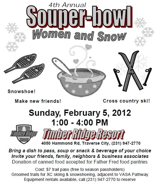 Soup-er Bowl, Women and Snow
