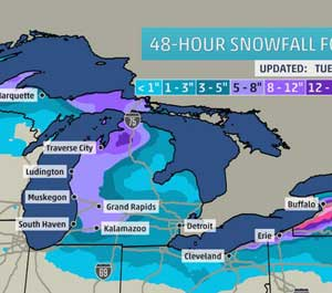 Leeward side of Great Lakes get slammed