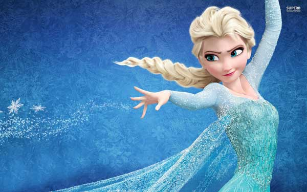We need Elsa, Princess of Arendelle, to make snow for skiers