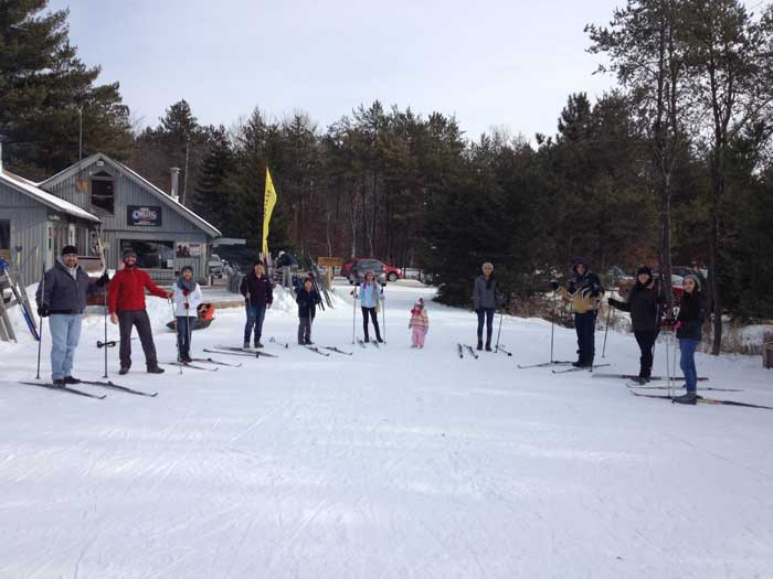 XC ski lessons at the Cross Country Ski Headquarters