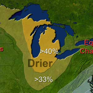 Michigan: warmer, drier this winter