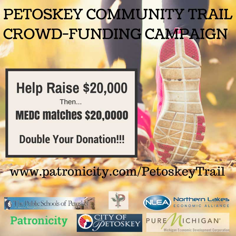 Petoskey, Michigan is looking for funding for a cross country ski trail