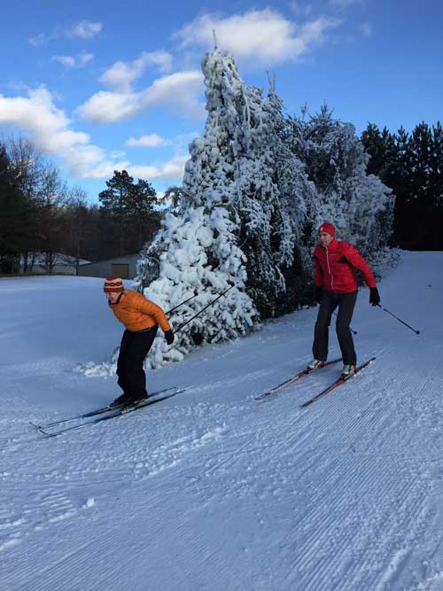 Practice xc ski trail at Cross Country Ski Headquarters
