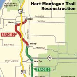 Hart Montague Trail improvements this month