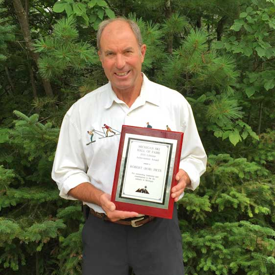 Bob Frye is inducted into Michigan Ski Hall of Fame
