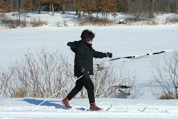 Kensington Metropark cross country skiing