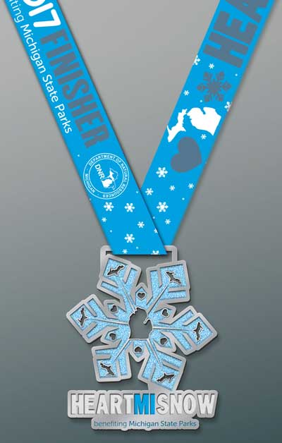 HeartMISnow Virtual 5K medal