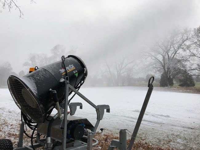 Snowmaking gun at Huron Meadows Metropark