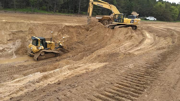 Forbush Corner snowmaking pond construction