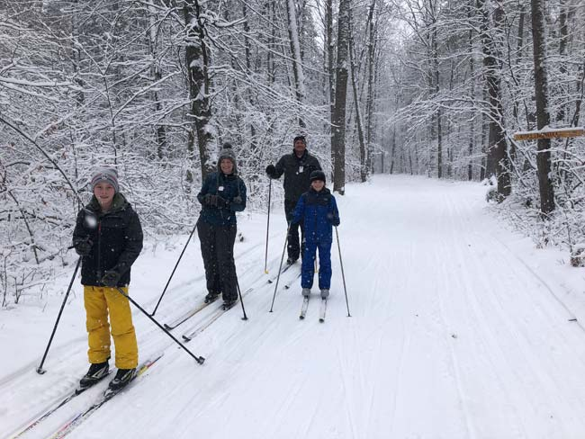 cross country ski fun for whole family