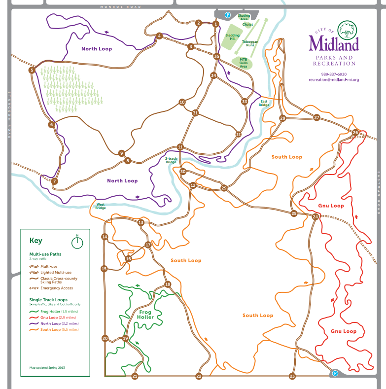 Midland City Forest Nordic Trails