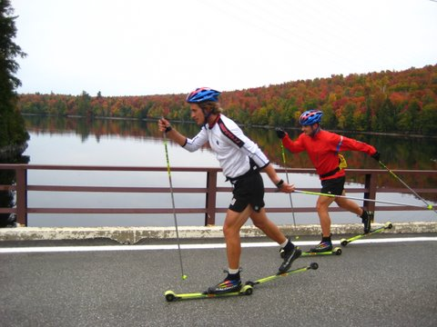 Rollerskiing in Lake Placid