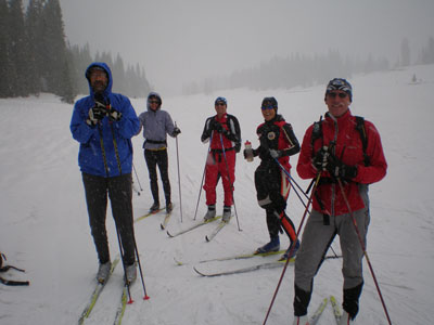 Crested Butte Skiing in Blizzard