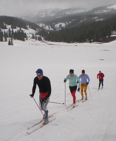 Cross country skiing in June
