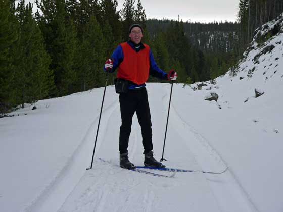 Early season cross country skiing in West Yellowstone