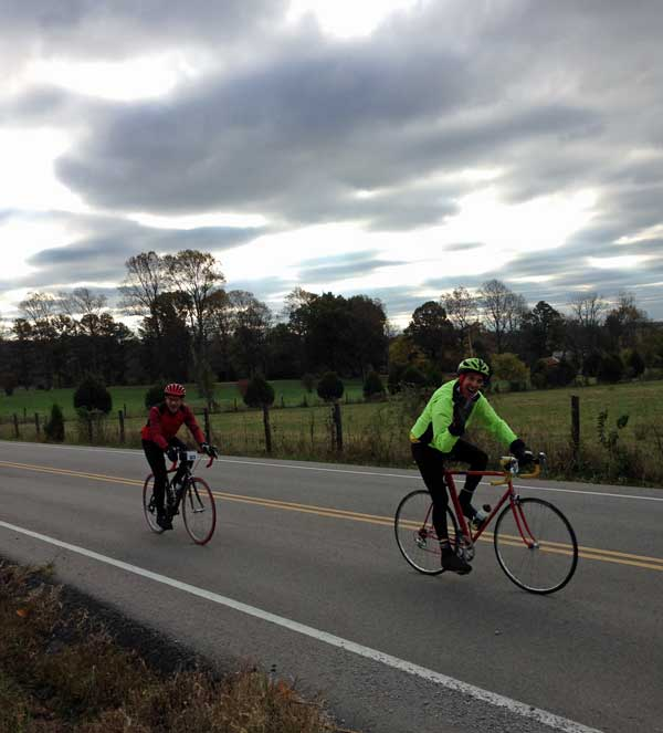 Jim and Steve out on the JDRF road course