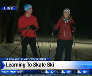 Ashlee Baracy heads to Huron Meadow Park to learn the art of skating on skis.