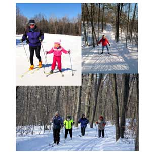 Free classic and skate xc ski lesson in Midland area