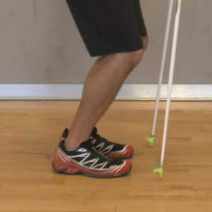 Supple ankles for double poling
