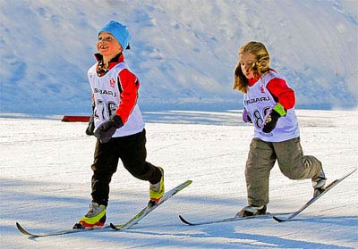 Cross country skiing kids