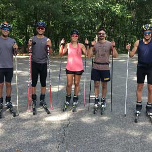 Rollerski clinic in Indiana